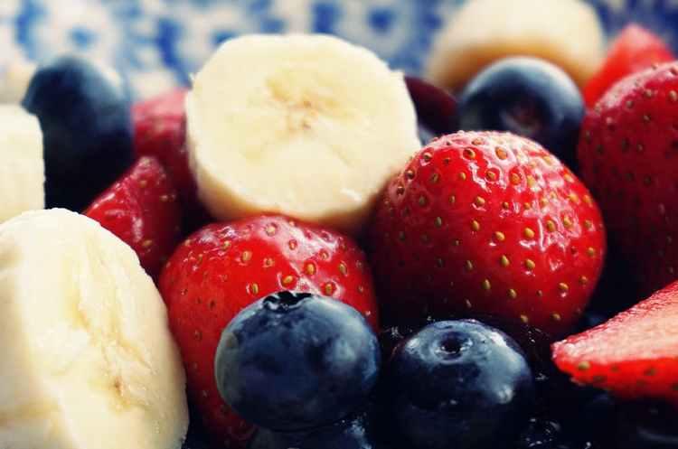 fruit bananas strawberries blueberries new