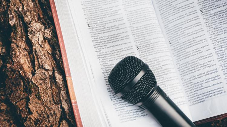 microphone and bible